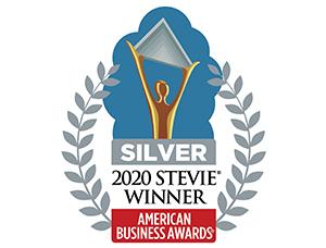 Silver 2020 Stevie Award Logo