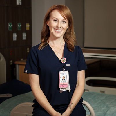 red headed nurse
