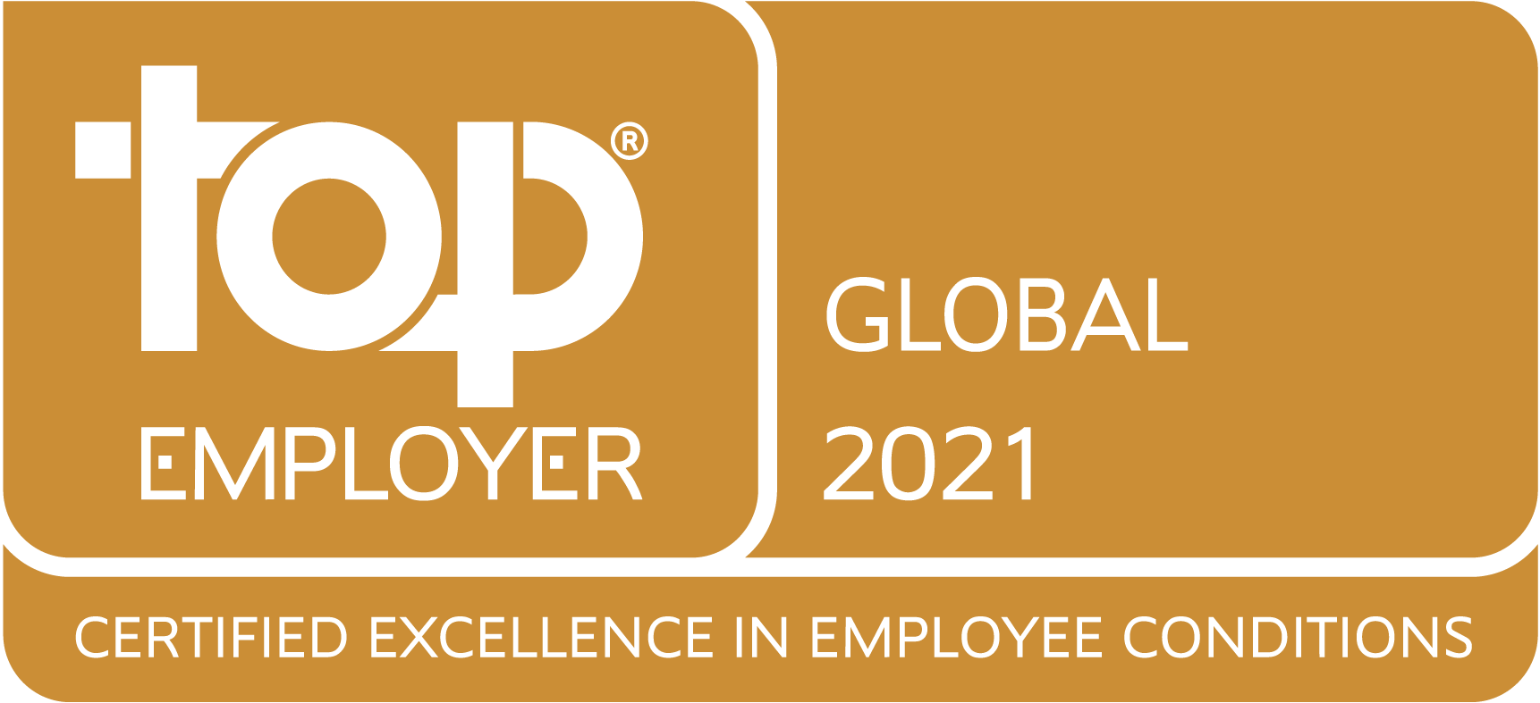 Top Employer - Global 2019. Certified Excellence in Employee Conditions.