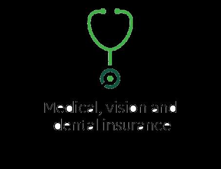 Medical, vision, and dental insurance
