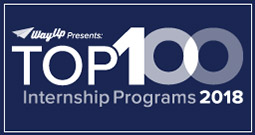 WayUp's Top 100 Internship Programs Award for 2018