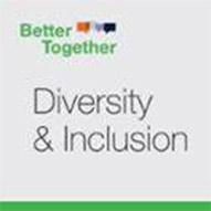 A badge that says 'Better Together - Diversity & Inclusion'