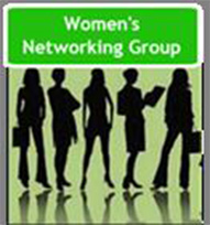 A badge that says 'Women's Networking Group