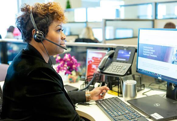 Operator at computer
