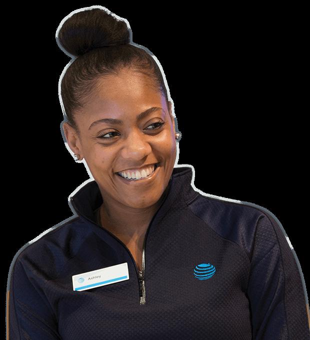 Salesperson smiling