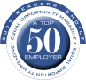 Top fifty employer logo