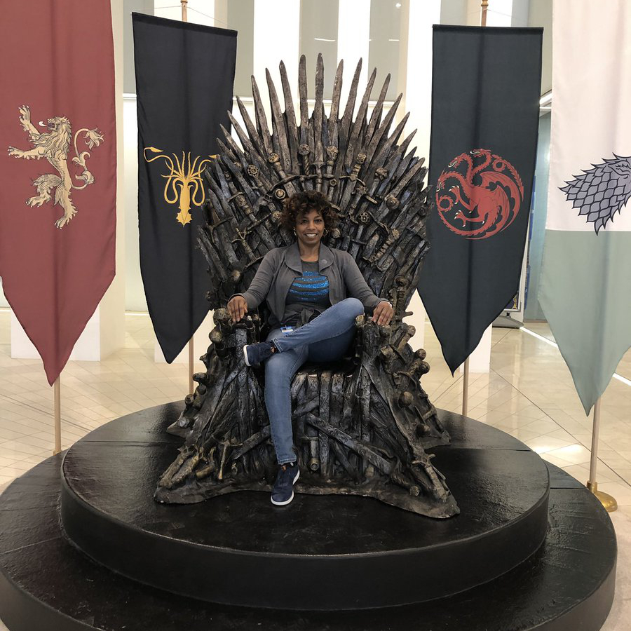 seated on the iron throne