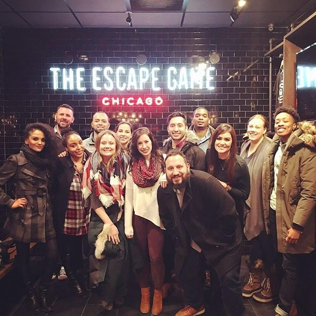 ATT Employees at escape room
