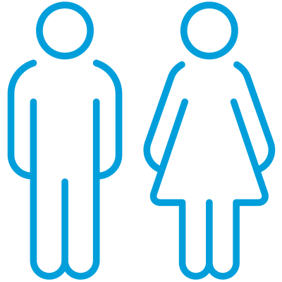 Diversity people silhouette icon