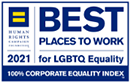 Human Rights Campaign 2021 Best Places to Work for LGBTQ Equality 100% Corporate Equality Index
