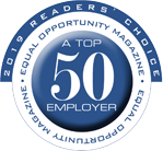 2019 Readers' Choice Equality Opportunity Magazine. A Top 50 Employer.