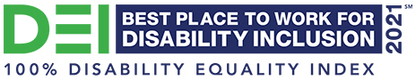 DEI Best Place to Work for Disability Inclusion 2021 100% Disability Equality Index