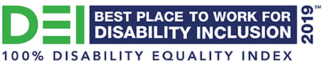 DEI Best Place to Work for Disability Inclustion 2019 100% Disability Equality Index
