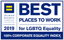 Human Rights Campaign 2019 Best Places to Work for LGBTQ Equality 100% Corporate Equality Index