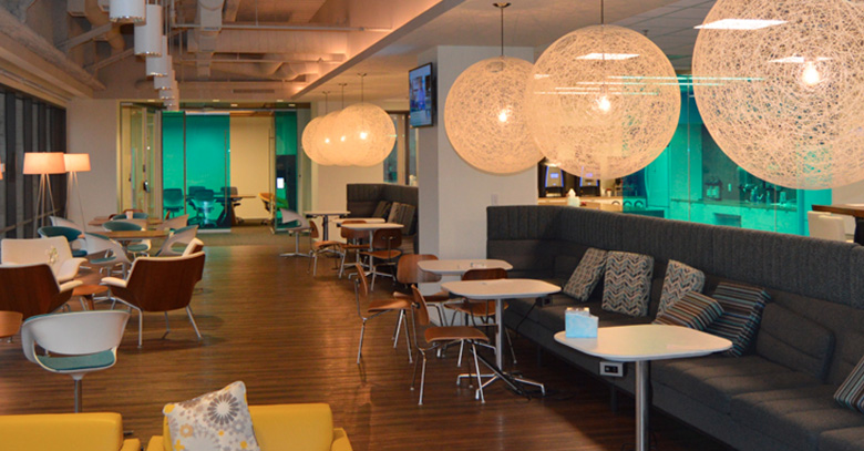 AT&T lounge area