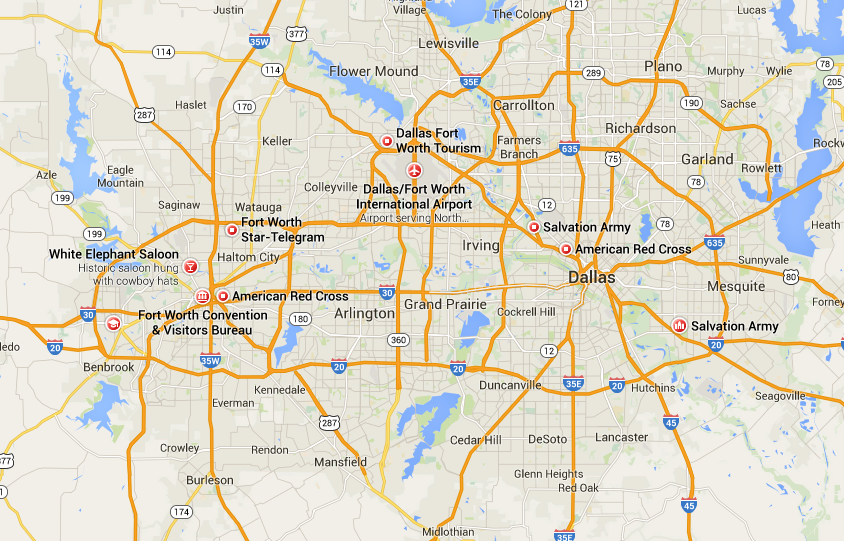 Map Of Dallas Fort Worth World Map 07