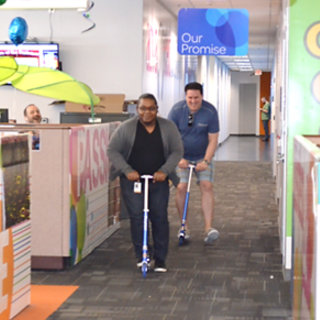 ATT Employees Scooter Race