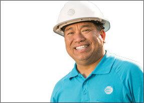 Male technician smiling