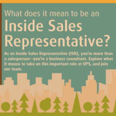 What is the ISR program like? | The Inside Sales Program | UPS Sales