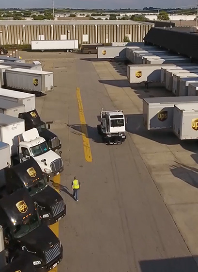 A screengrab of the video showcasing the variety of jobs at UPS
