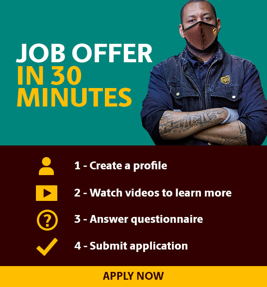 Job Offer in 30 Minutes: Step 1-Create a profile, Step 2-Watch videos to learn more, Step 3-Answer questionnaire, Step 4-Submit application (Click to Apply Now)