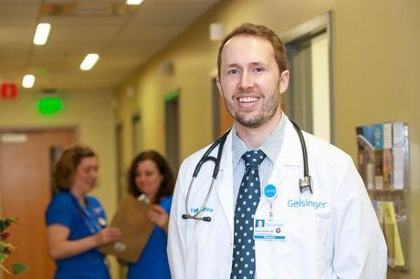 Doctor Trevor Smith with stethoscope