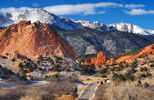 Mountains showcasing the landscape of Colorado Springs, Colorado