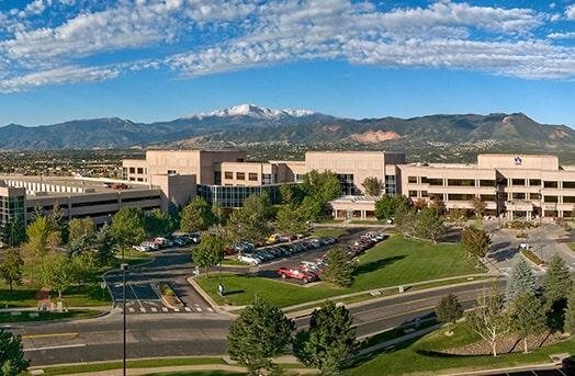 Birds eye view of the Colorado Springs Office Buildings