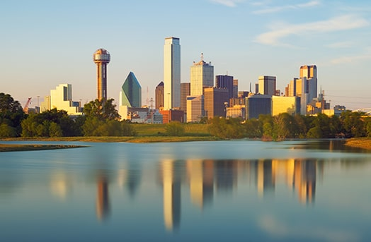 Tall buildings showcasing the skyline of Plano, Texas