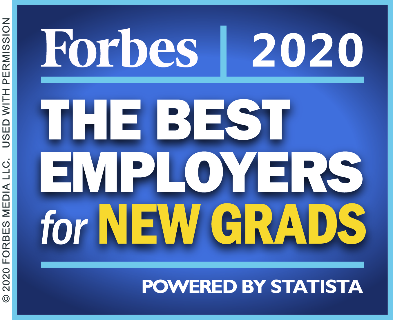 Forbes: The Best Employer for New Grads - 2020