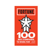 Fortune:  100 Best Companies to Work For - 2021