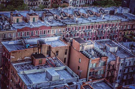 Lower East Side tenement rooftops