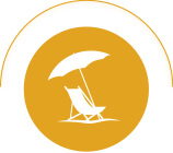 Beach Chair and Sun Umbrella Icon