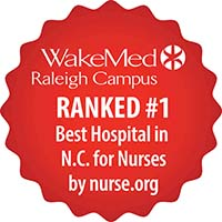 Wake Med Raleigh Campus ranked #1 Best Hospital in N.C. for nurses by nurse.org