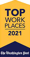 2021 Top Places to Work Award from The Washington Post