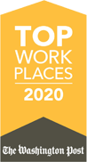 2020 Top Places to Work Award from The Washington Post
