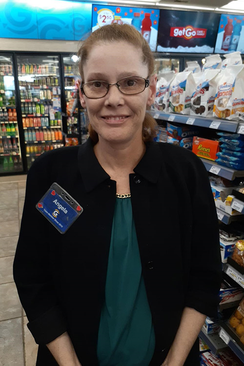 Angela Gregory in her GetGo location