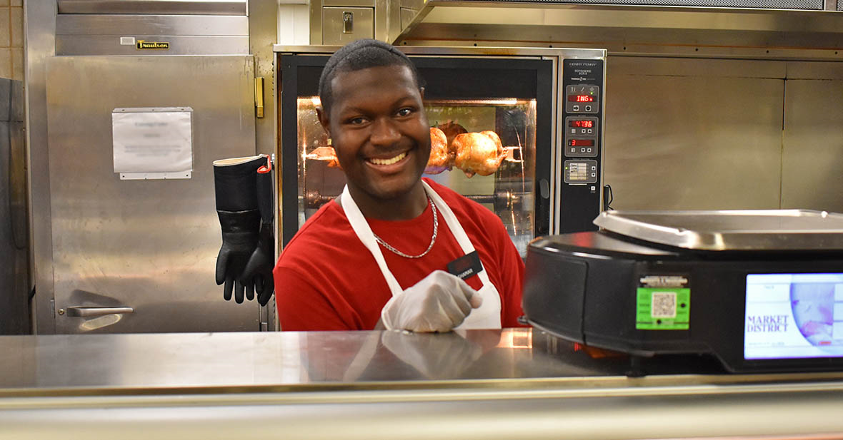 Shamar in the prepared foods department