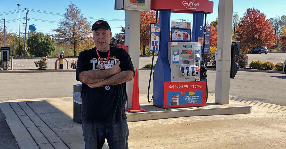 David outside of Hempfield GetGo