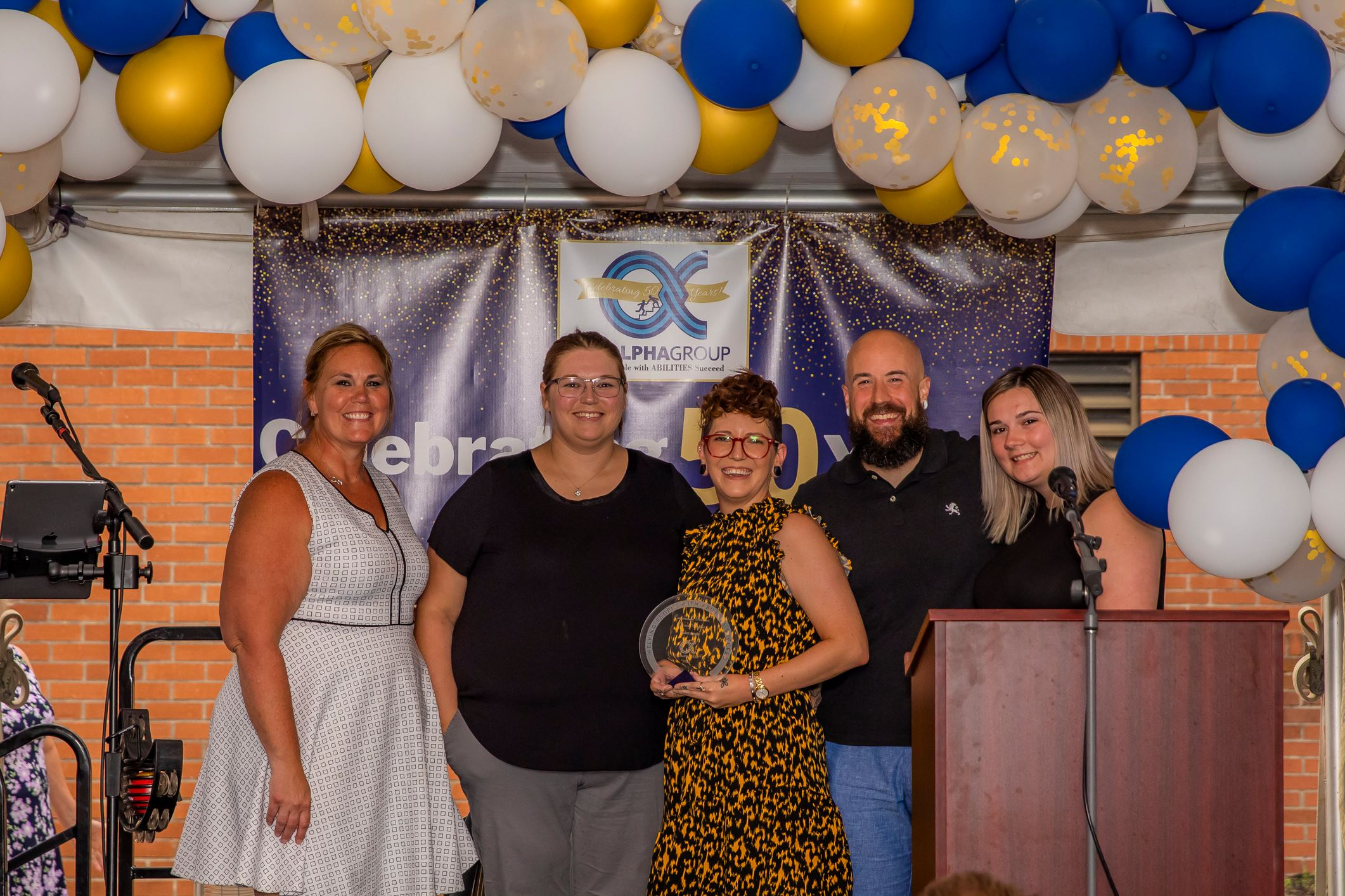 2021 Community Services Award from The Alpha Group