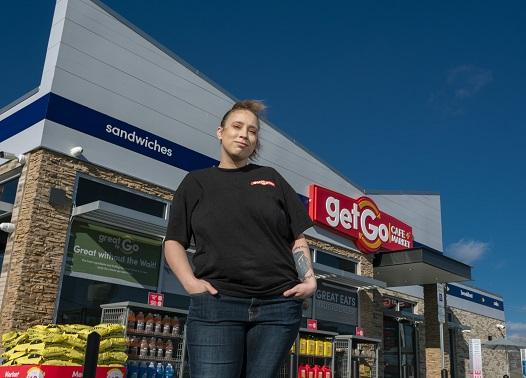 headshot of female employee in uniform for Getgo