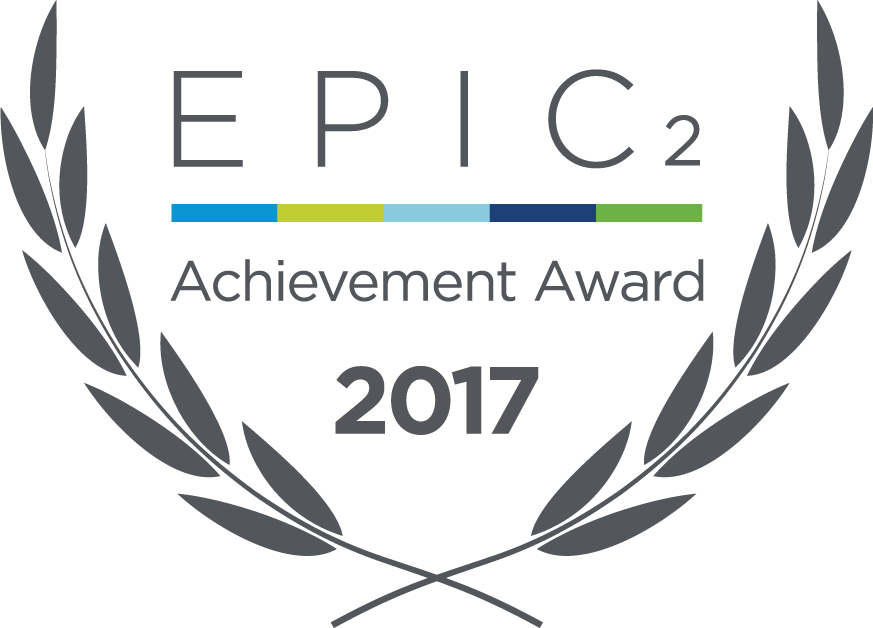 2017 EPIC2 Achievement award surrounded by two branches