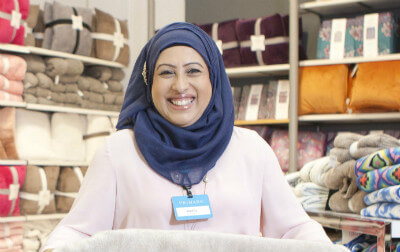 Photo of Bushra, Senior Department Manager.
