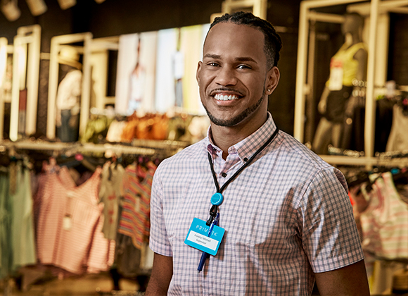 Junior working in a Primark store