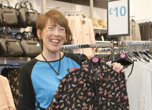 Elaine working in a Primark store