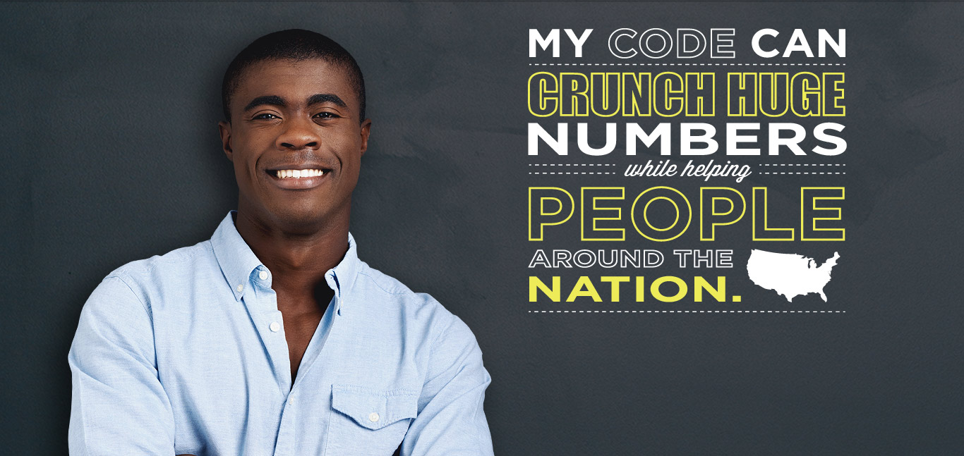 My code can crunch huge numbers while helping People around the nation.