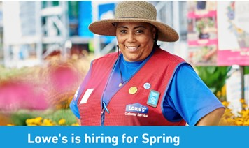 Search spring job opportunities for seasonal employment and view videos about spring hiring at Lowe's. Grab a vest, and see why it's more than just a job.