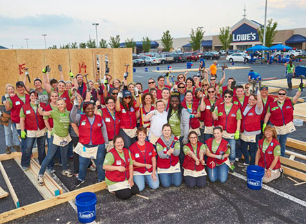 Lowe's Team on Site