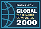 Forbes 2017 Global Top Regarded Companies 2000