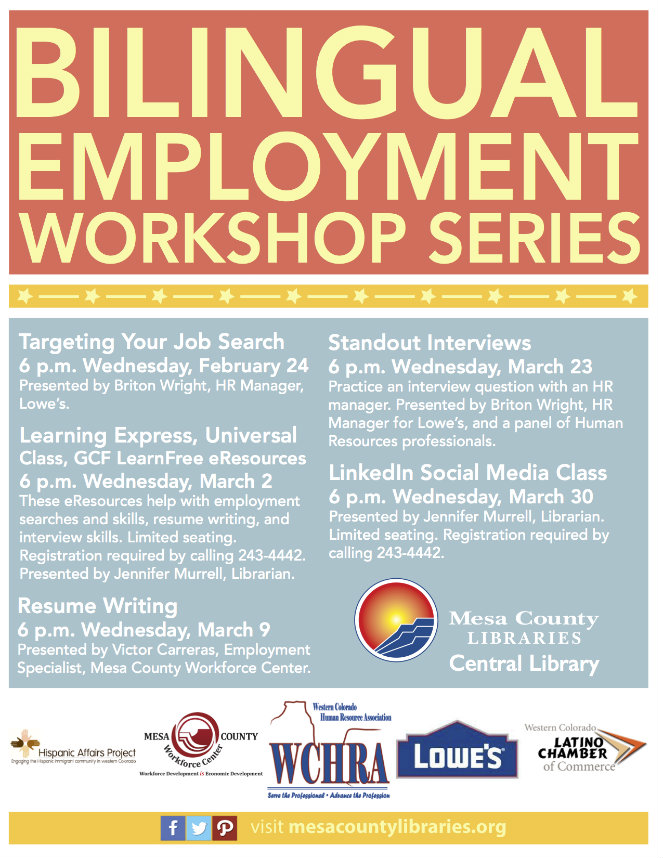 Mesa County Bilingual Employment Workshop Series 2016